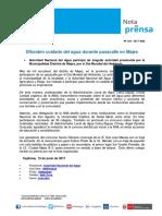 Nota de Prensa Nº 128-2017 - ALA COLCA-SIGUAS CHIVAY