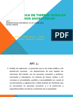 LEY ORGANICA DE TIERRAS Y TERRITORIOS ANCESTRALES  HOY.pptx