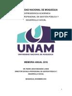Unam Memoria 2016 Gestion Publica y Desarrollo Social