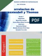 Correlacion de Baxendell y Thomas