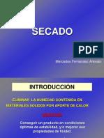 SECADO Por Mercedes Fernández Arévalo