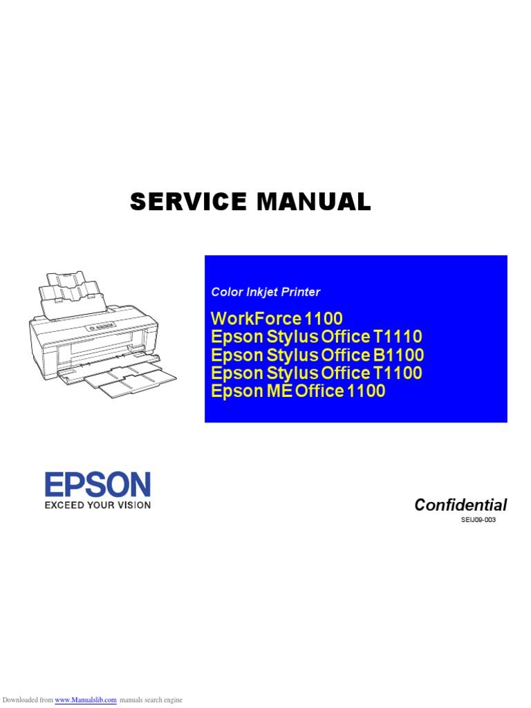 workforce 1100 service manual media technology office equipment rh scribd com epson r2000 repair manual repair Epson RX600