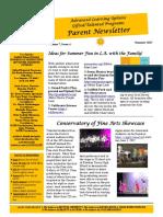 parent newletter summer 2017