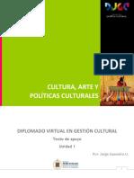 Cultura, Arte y Políticas Culturales, Texto de Apoyo Unidad 1