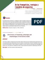 Anzola Navas, M.L. (2014) Breve historia de las franquicias, ventajas y desventajas del modelo de negocios.pdf