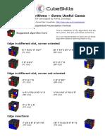 Useful f2l Algorithms BY Feliks Zemndegs