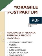Hemoragiile Postpartum