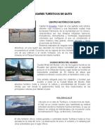 Lugares Turísticos de Quito