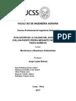 Evaluacion de la calidad de agua del río Chillón mediante parametros fisicos-quimicos  Final Monitoreo