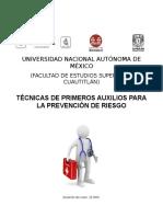 Tecnicas de Primeros Auxilios Para La Prevención de Riesgo