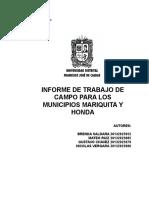 Informe Salida de Campo catastro predial