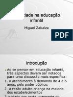 Zabalza Miguel Qualidade Em Educacao Infantil