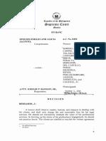 Sps Jacinto v Bangot LEGAL ETHICS