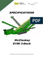 S190 3 Deck Technical Spec