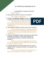 Cuestionario Contestatdo de Frankenstein