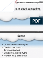 Intoducere in Cloud Computing