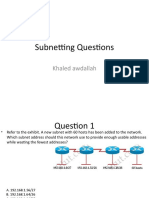 Subnetting Questions 2