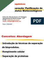 PBQ8-Separação-purificação de Bioprodutos-Alterações Bioquímicas Em Alimentos