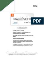 Diagnostico Inicial Lenguaje 6basico 2015