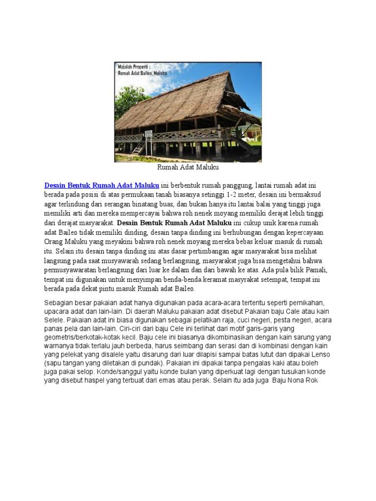 Gambar Rumah Adat Maluku Rumah Adat Indonesia