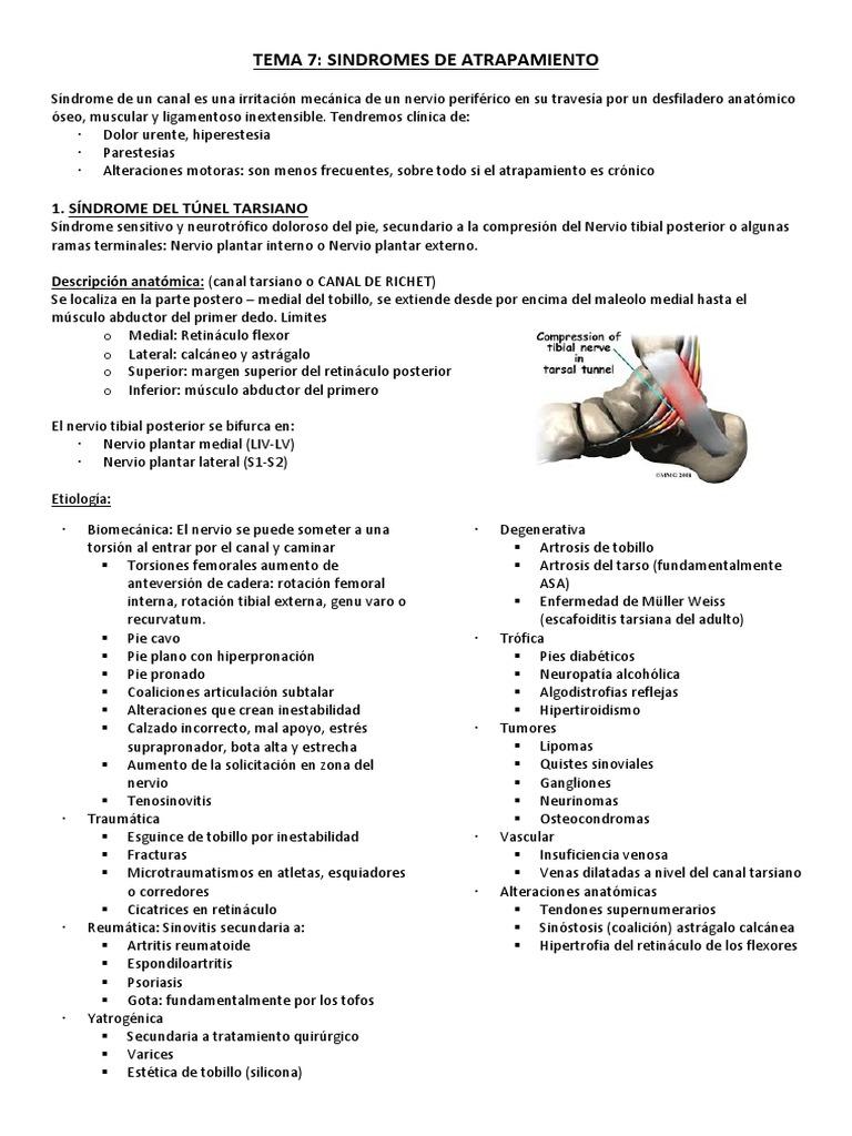 TEMA 7 Sindromes de Atrapamiento