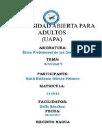 Actividad v Etica Profesional de Los Docente