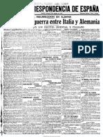 La Correspondencia de Espaρa. 18-8-1916, No. 21,373