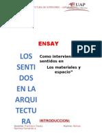Ensayo - Los Sentidos en La Arq.
