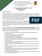 Convocatoria a Registro y Homologación de Licencias