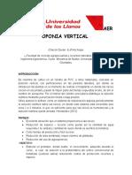 Aeroponia Vertical