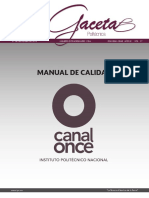 Manual Canalonce