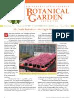 Summer-Fall 2007 Botanical Garden University of California Berkeley Newsletter