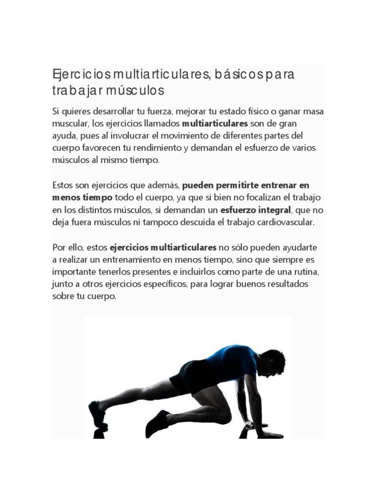 Ejercicios multiarticulares | Anatomía humana | Deportes