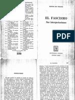 Renzo de Felice - El Fascismo