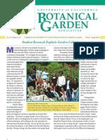 Winter-Spring 2008 Botanical Garden University of California Berkeley Newsletter