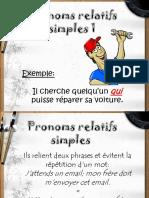 Pronoms Relatifs Simples 1