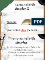 Pronoms Relatifs Simples 2