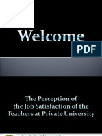 Perception of Job Satisfaction