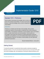 IG1210 Proficiency