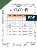Horario 4°básico