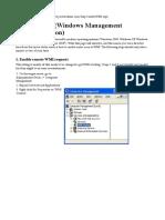 Enable WMI on WindowsXP 2003 2008