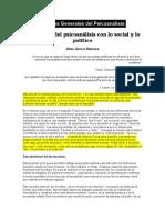 Estados Generales Del Psicoanálisis. Relaciones Del Psicoanálisis Con Lo Social y Lo Político. Gilou García Reinoso