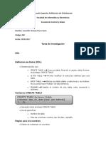 Consulta DDL y SQL