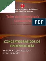 Taller de Epidemiología Comunitaria
