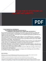 Características Socio Económicas Del Departamento de Huánuco