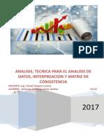 Analisis y Tecnicas Para El Analisis de Datos