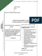 Class Action Complaint for Elder Abuse RICO Unlawful and Unfair Business Practice  Mazgani Social Service  Mahvash Mazgani Neyaz Mazgani Nazanin Mazgani Consumers Legal Remedies Act