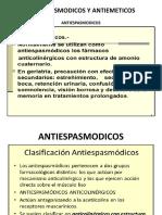 Antiespasmodicos y Antiemeticos