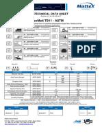 GeoMatt Datasheet TB11 Ed1 2017 ASTM AD