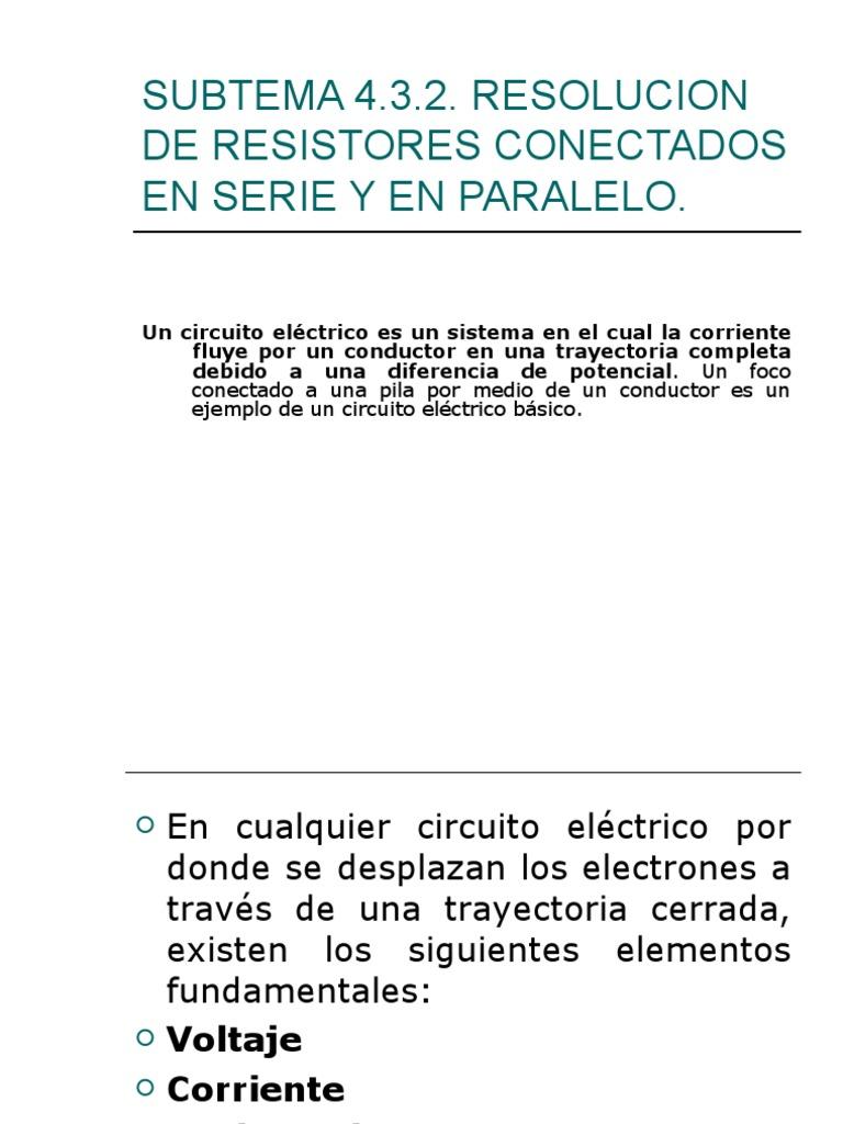Circuito Basico : Circuito serie paralelo de fisica 2